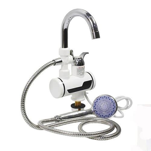 Проточный электрический водонагреватель Instant Electric Heating Water Faucet с дисплеем и душевой лейкой.