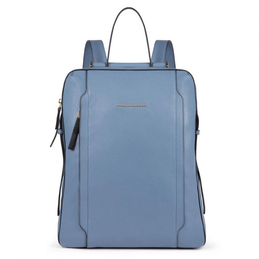 Женский кожаный рюкзак Piquadro CA4576W92/AV2 голубой