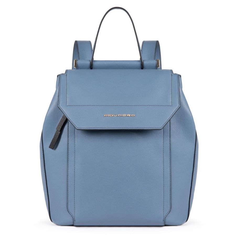 Женский кожаный рюкзак Piquadro CA4579W92/AV2 голубой