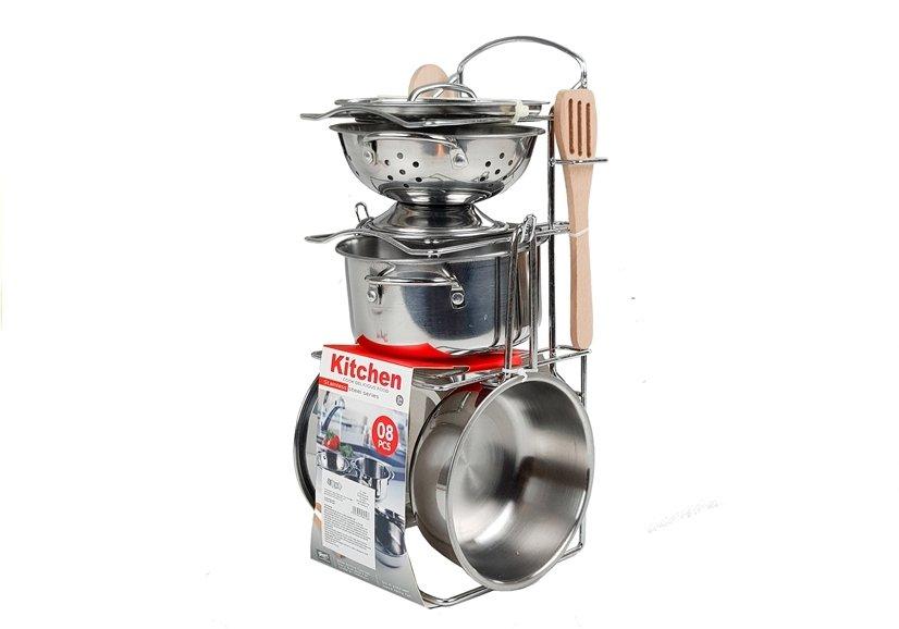 Набор кастрюль и сковородок из нержавеющей стали 8 шт, посуда.