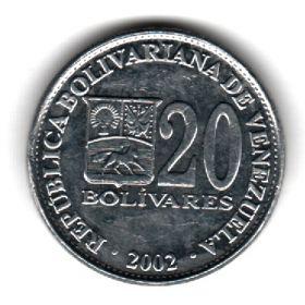 Венесуэла 20 боливаров 2002