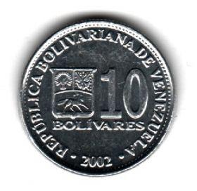 Венесуэла 10 боливаров 2002