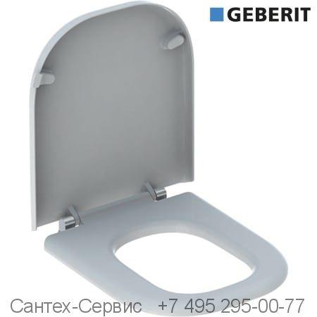 572830000 Сиденье унитаза Geberit Renova Comfort, прямоугольное исполнение, крепление СНИЗУ