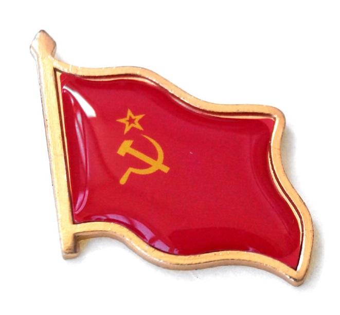Значок пин флаг СССР