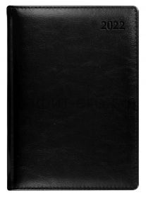 Ежедневник датир.(кожа) А5 Letts Global Deluxe IBIZA черный 412 127510/22-081324