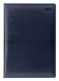 Ежедневник датир.(кожа) А5 Letts Global Deluxe синий 412 127220/22-081448