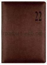 Ежедневник датир.А5 Letts MILANO темно-коричневый 412 155080/22-081387