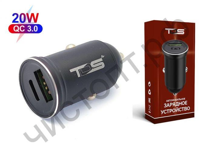 АЗУ TS-CAU41 с USB И TYPE-C выходом (PD20W+QC3.0, 3600mA)