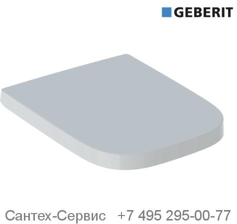 500.692.01.1 Сиденье для унитаза Geberit Renova Plan прямоугольное исполнение, крепление СВЕРХУ