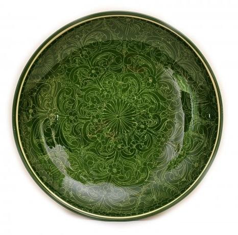 Блюдо 32см зеленое
