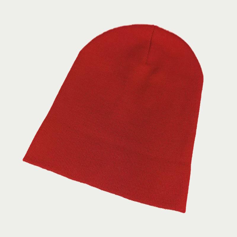 зд1243-23 Шапка вязаная двойная Pure красная
