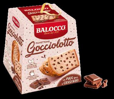 Панеттоне с каплями шоколада 500 г, Panettone Gocciolotto Balocco 500 g