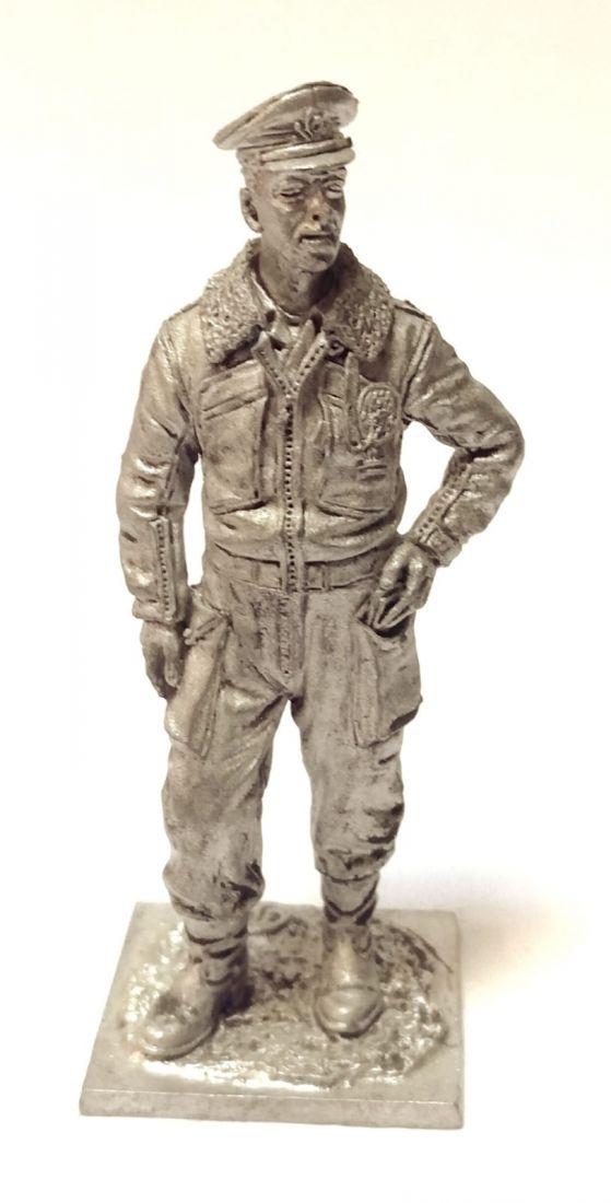 Фигурка Пилот ВВС Италии 1943-45г. Олово
