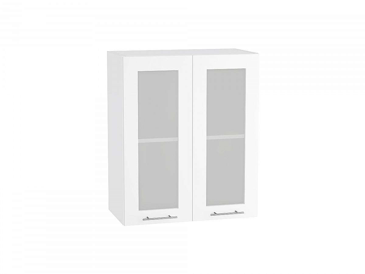Шкаф верхний Валерия В609 со стеклом белый глянец
