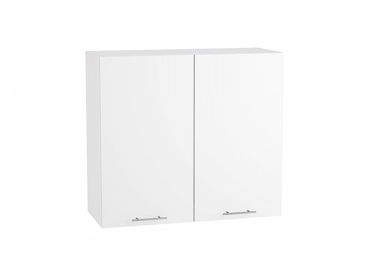 Шкаф верхний Валерия В809 белый глянец