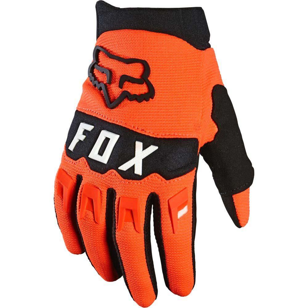 Fox Dirtpaw Youth Flo Orange (2022) перчатки для мотокросса подростковые