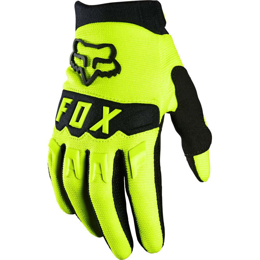 Fox Dirtpaw Youth Flo Yellow (2022) перчатки для мотокросса подростковые