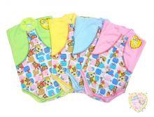 """Боди для новорожденных с длинным рукавом ZC-BD131-ITpk (интерлок-пенье, цвет в ассортименте) код товара 01412-1 """"Мамин Малыш"""""""
