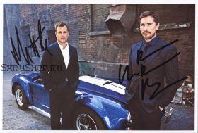 Автографы: Мэтт Дэймон, Кристиан Бэйл. Ford против Ferrari