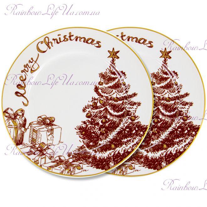 "Набор тарелок 2 шт 19 см Merry Christmas ""Lefard"""