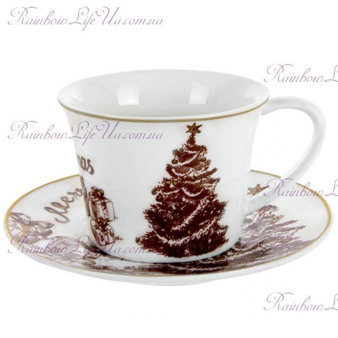 "Чайный набор 250 мл Елочка Merry Christmas ""Lefard"""
