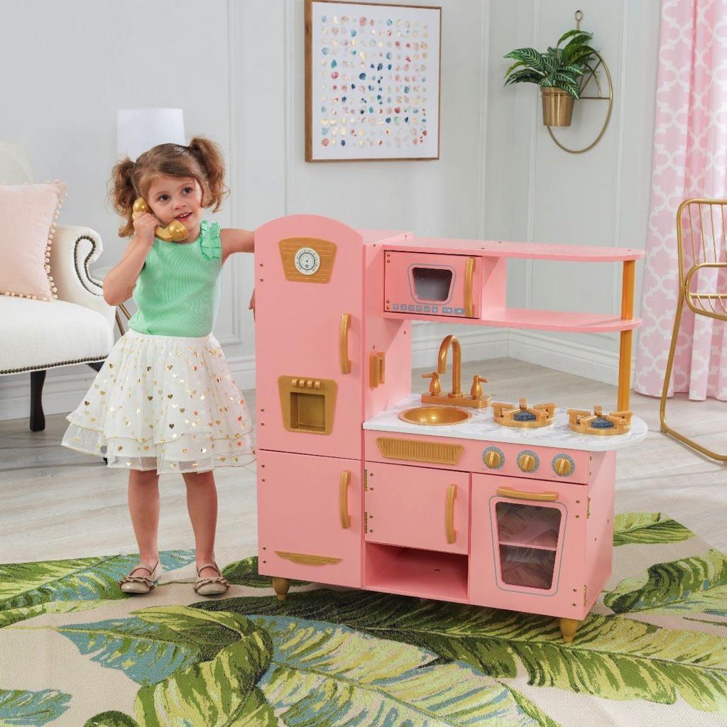 Детская кухня KidKraft Pink And Gold Vintage  - Ограниченная серия 53443