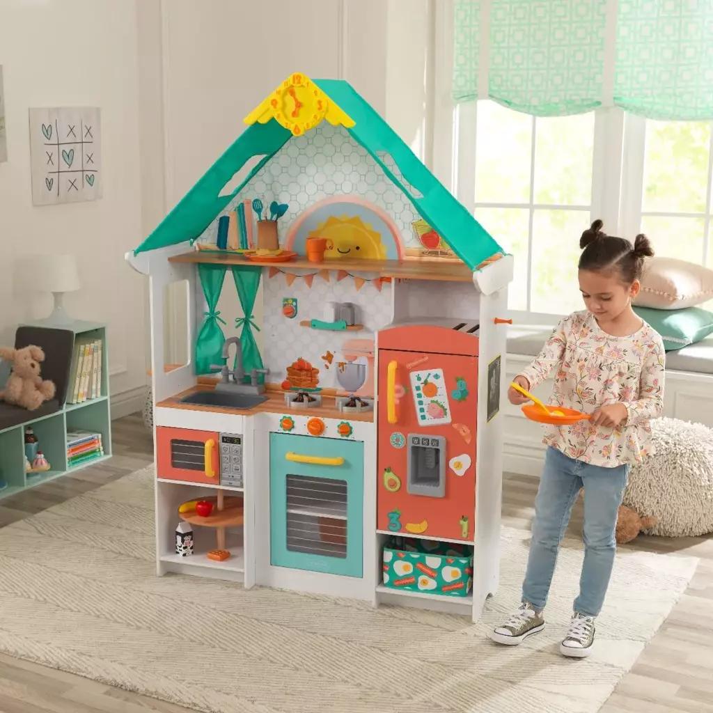 Детская кухня KidKraft Morning Sunshine с аксессуарами - Свет и Звук