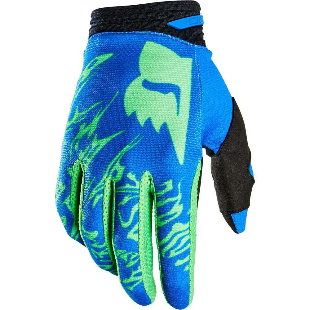 Fox 180 Peril Flo Green (2022) перчатки для мотокросса