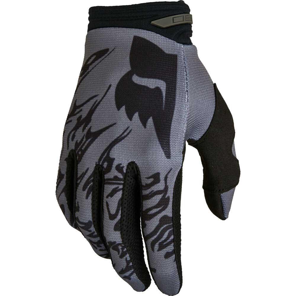 Fox 180 Peril Black (2022) перчатки для мотокросса