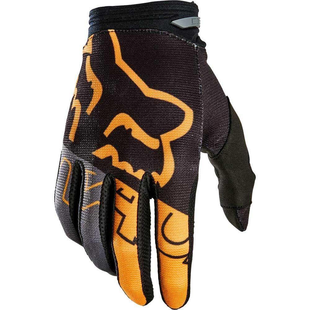Fox 180 Skew Black/Gold (2022) перчатки для мотокросса
