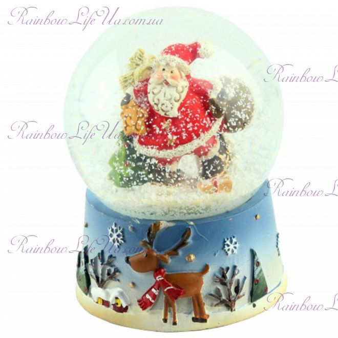 "Снежный шар ""Санта Клаус"", 9 см"
