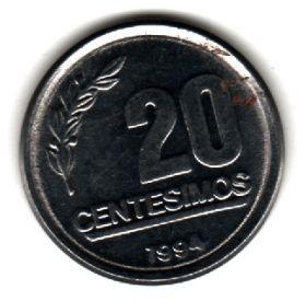Уругвай 20 сентесимо 1994