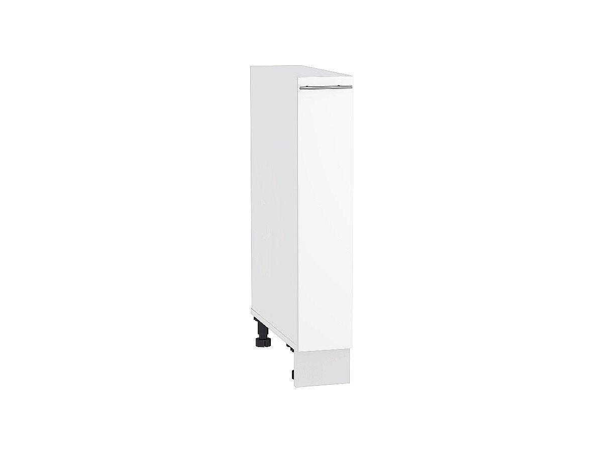 Шкаф нижний бутылочница Валерия НБ150 белый глянец