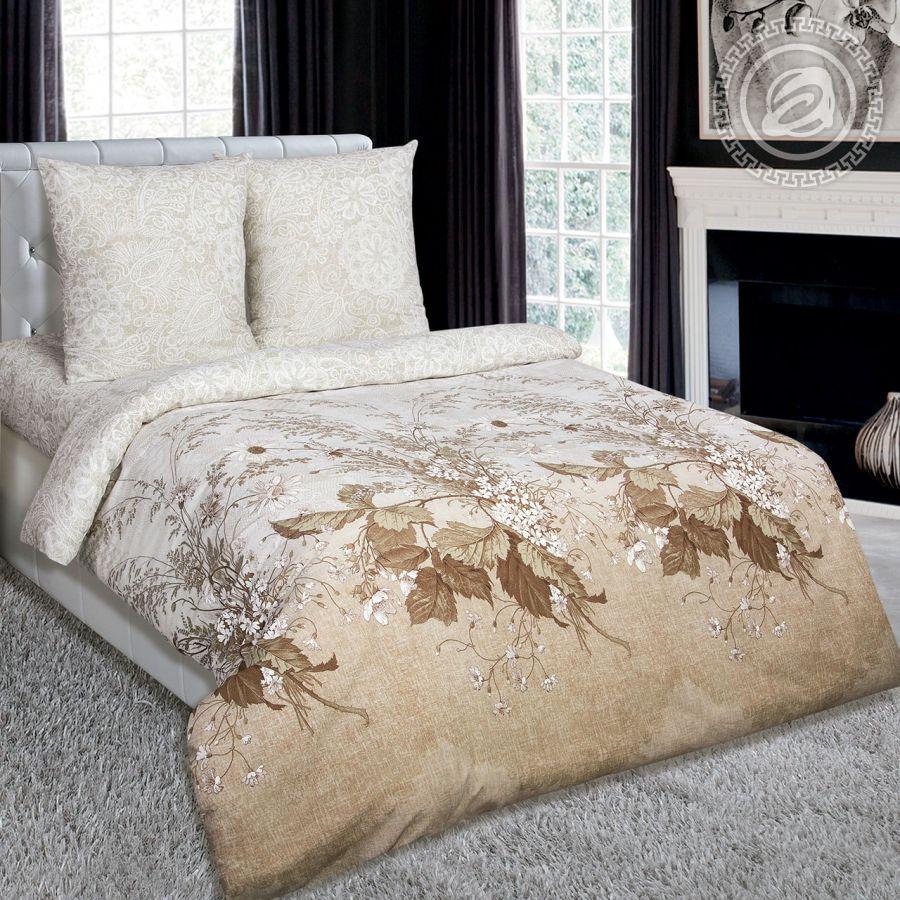 «Адажио» (DE LUXE с простынью на резинке) постельное белье Поплин Семейный