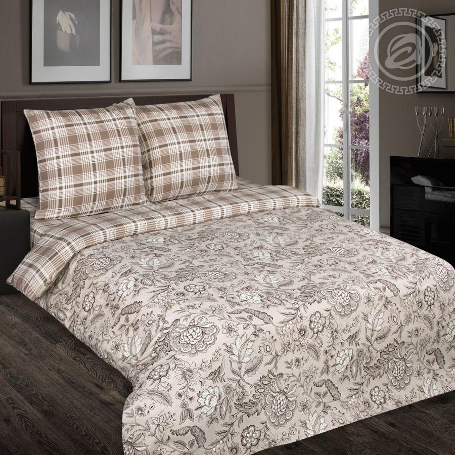 «Ода» (DE LUXE с простынью на резинке) постельное белье Поплин 2-х спальный