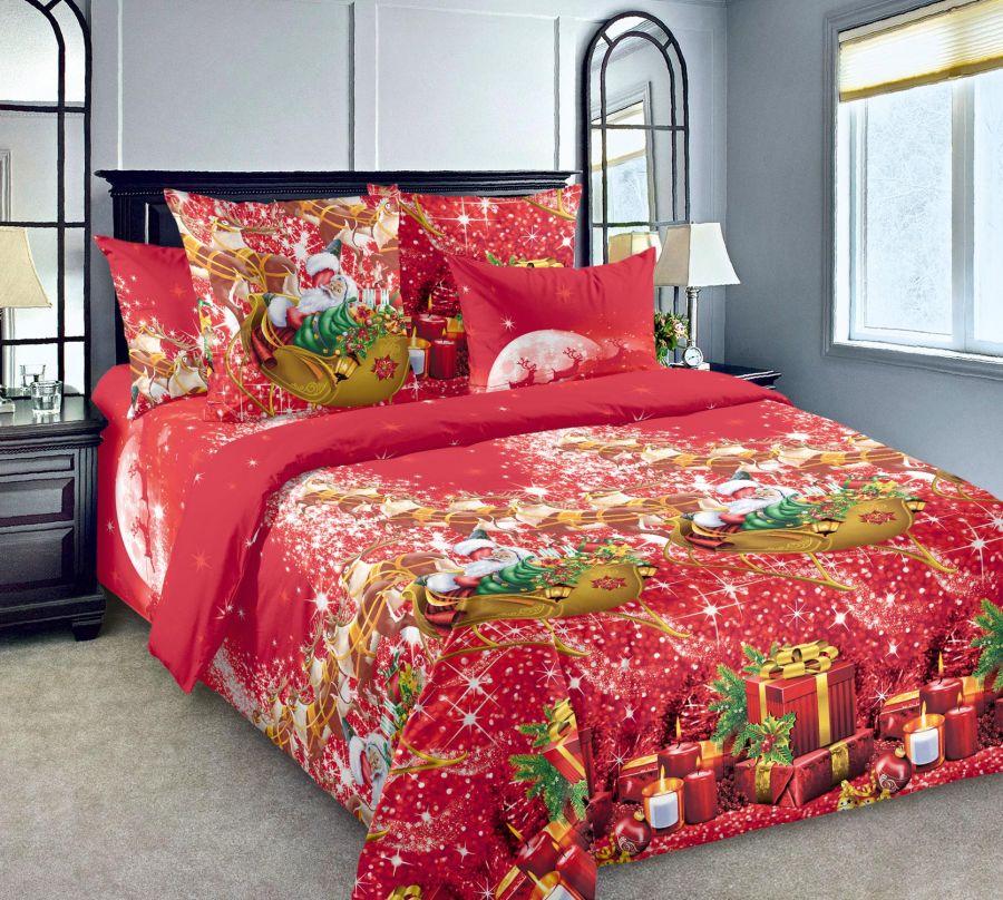 «Новогодние огни 1» постельное белье Бязь Евро