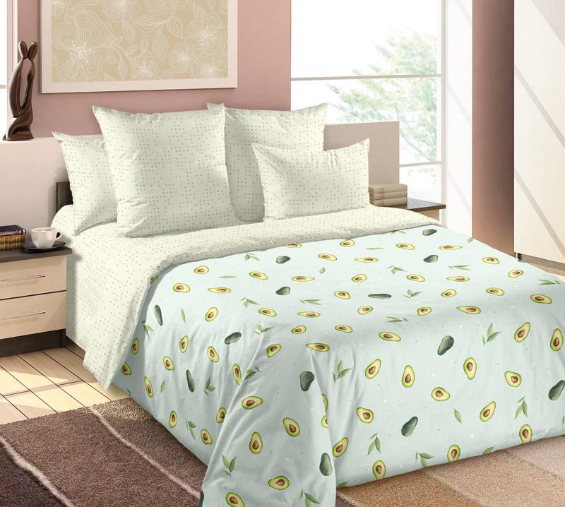 «Авокадо 1» постельное белье Перкаль 2-х спальный с евро