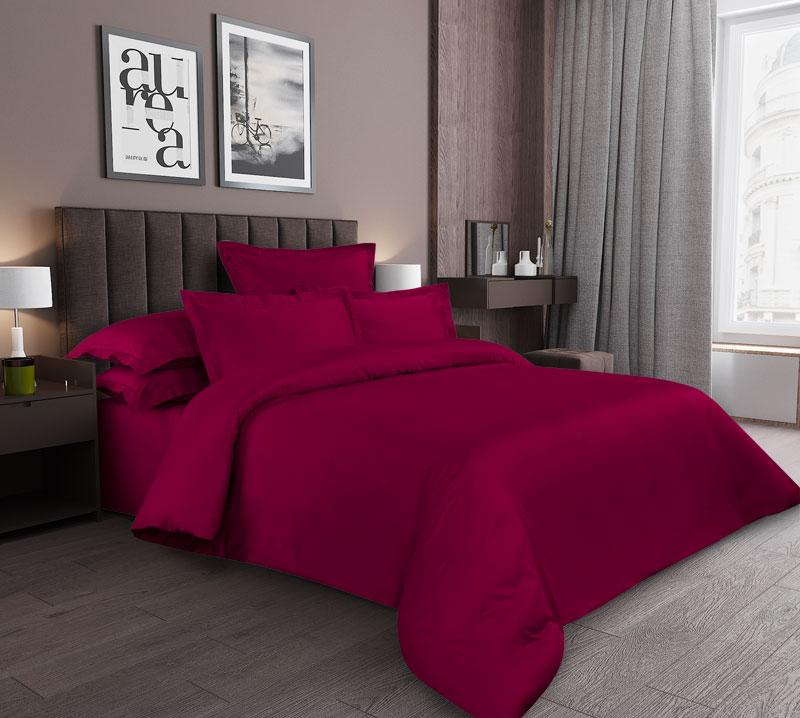 «Гранат» постельное белье Сатин Семейный