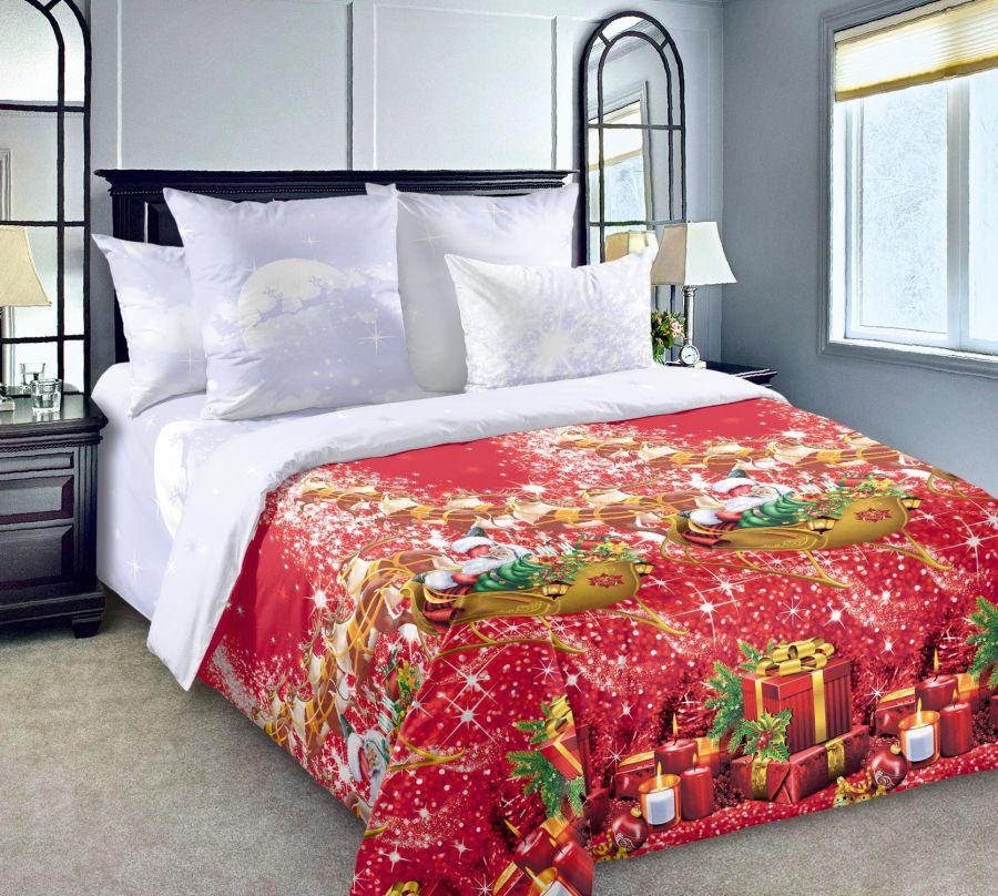 «Новогодние огни 1» постельное белье Перкаль