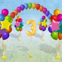 Комплект оформления шарами с 1 цифрой