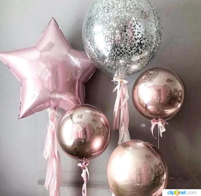 Композиция из воздушных шаров Звезды и Сферы