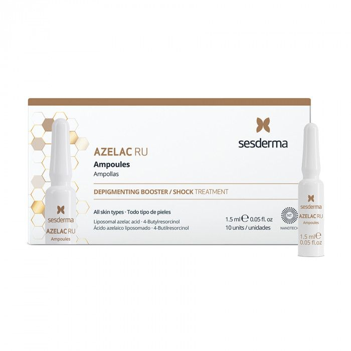 AZELAC RU Ampoules – Средство в ампулах депигментирующее, Sesderma (Сесдерма) 10 шт * 1,5 мл