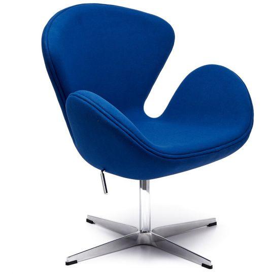 Кресло SWAN CHAIR синий кашемир
