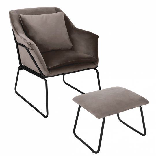 Комплект кресло ALEX и оттоманка ALEX латте