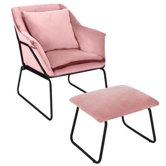 Комплект кресло ALEX и оттоманка ALEX пудровый