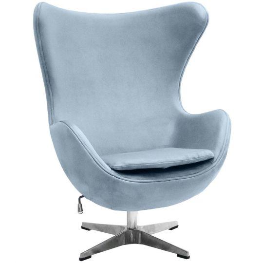 Кресло EGG CHAIR серый, искусственная замша