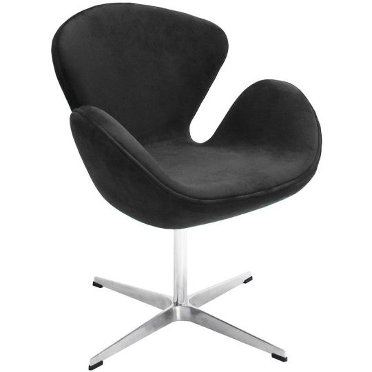 Кресло SWAN CHAIR графит, искусственная замша