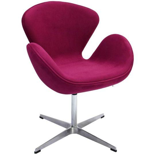 Кресло SWAN CHAIR винный, искусственная замша
