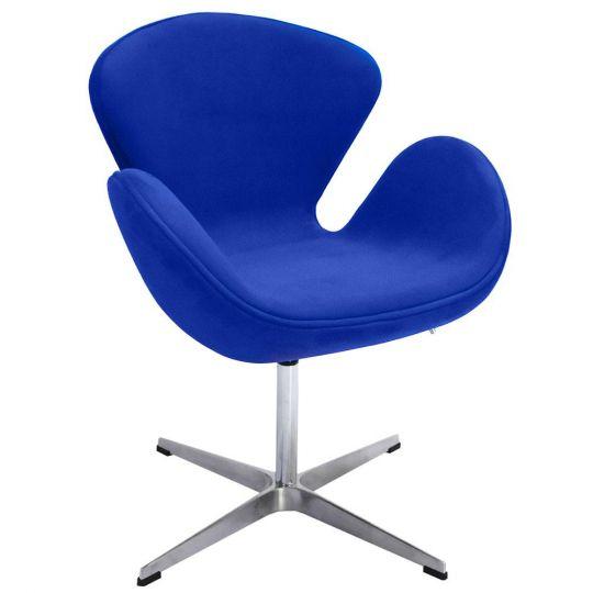 Кресло SWAN CHAIR синий, искусственная замша
