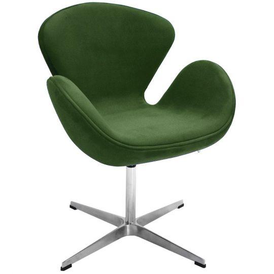 Кресло SWAN CHAIR зеленый, искусственная замша